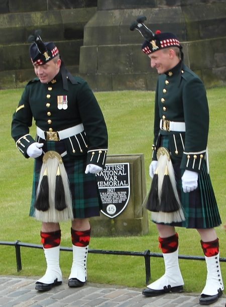 The Royal Scots Dragoon Guards at Edinburgh Castle in Scotland
