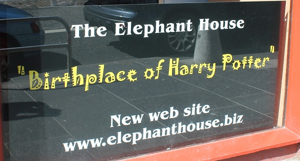 Exterior of The Elephant House, birthplace of Harry Potter in Edinburgh, Scotland