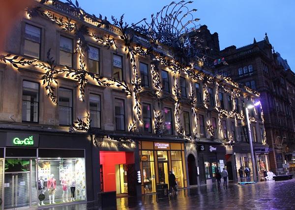 Late Night Shopping on Buchanan Street in Glasgow, Scotland