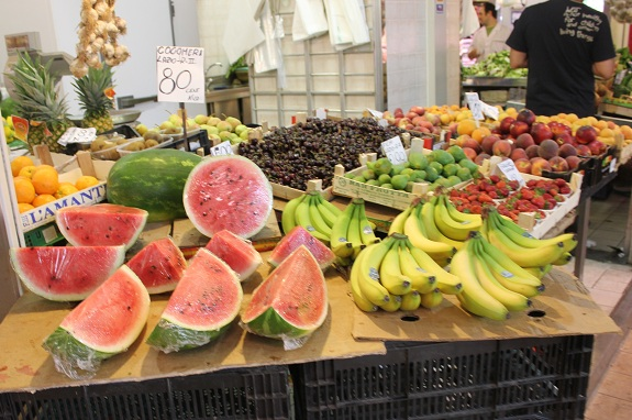 fruit and vegetables at the Mercato Trionfale