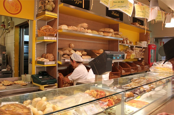 bakery at the Mercato Trionfale