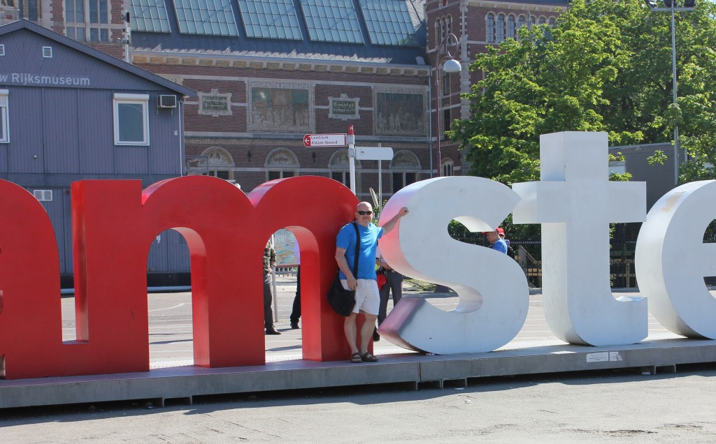 The Amsterdam sign outside the Rijksmuseum Museum