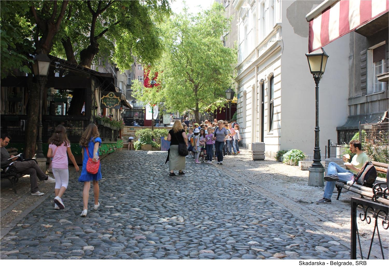 Skadarlija in Belgrade, Serbia