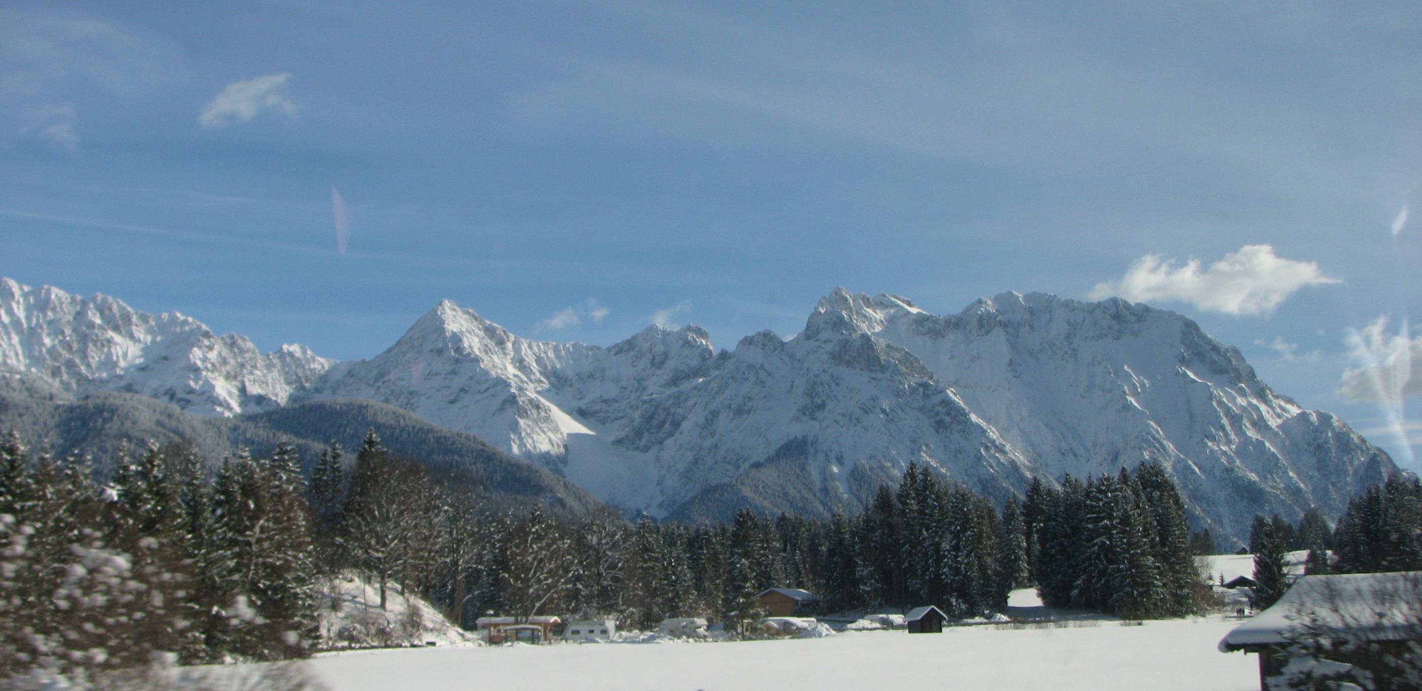 snow in Garmisch