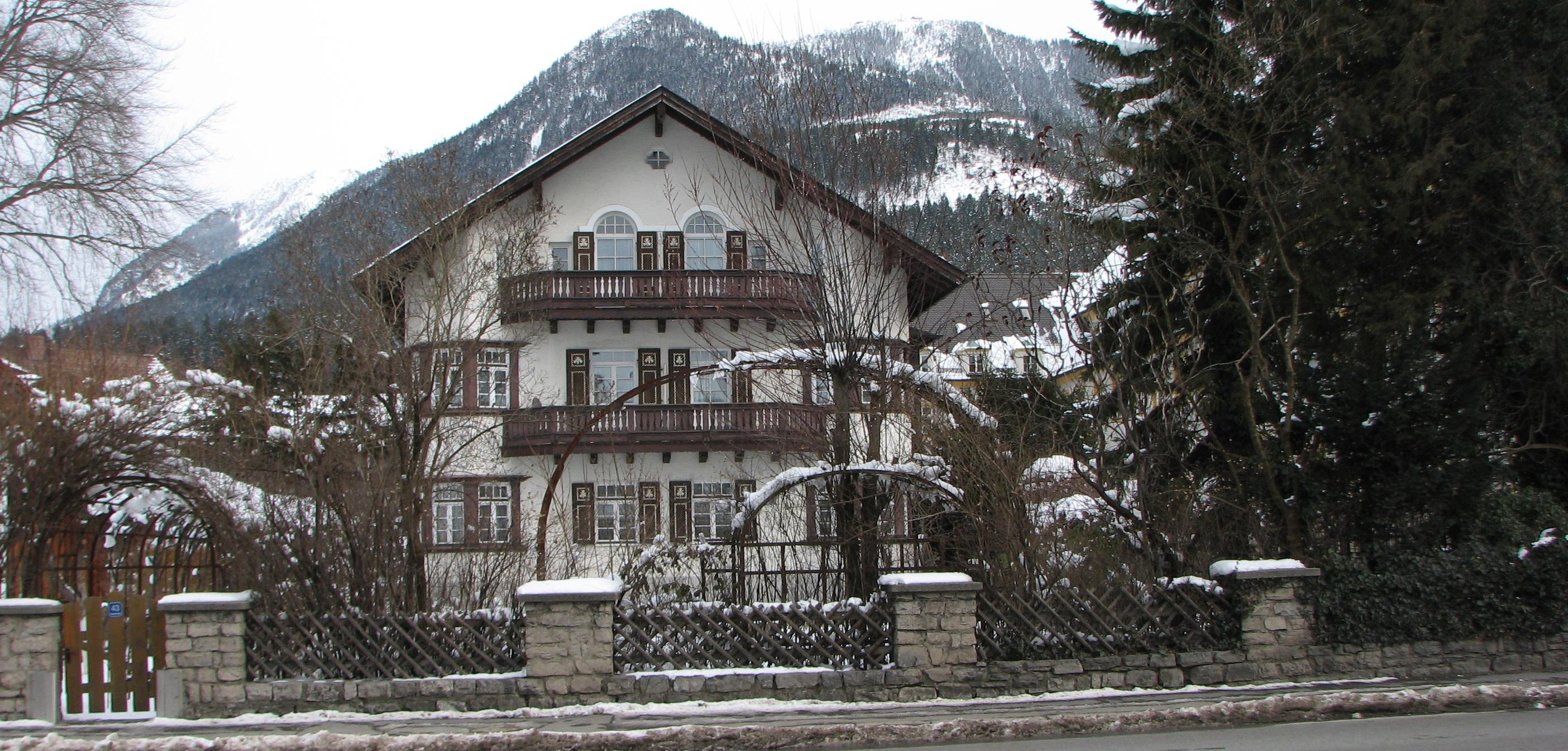 walking through snow in Garmisch