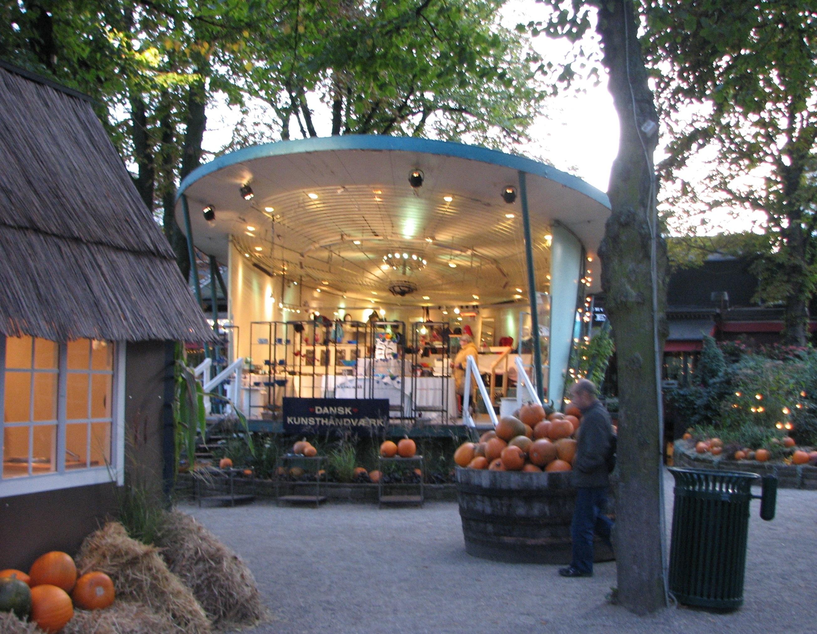 Halloween in Tivoli Amusement Park