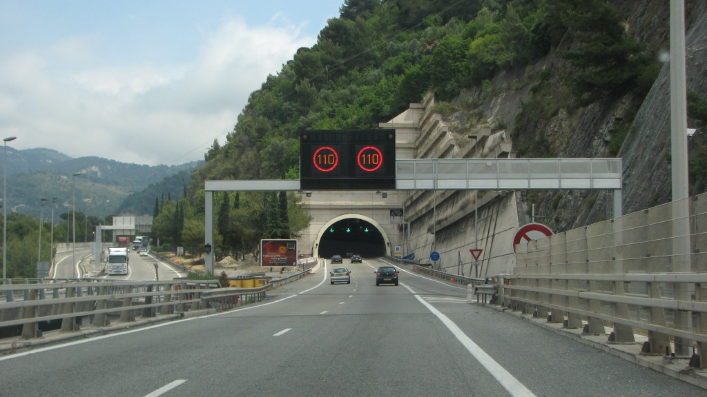 driving tunnels from Nice to Monaco